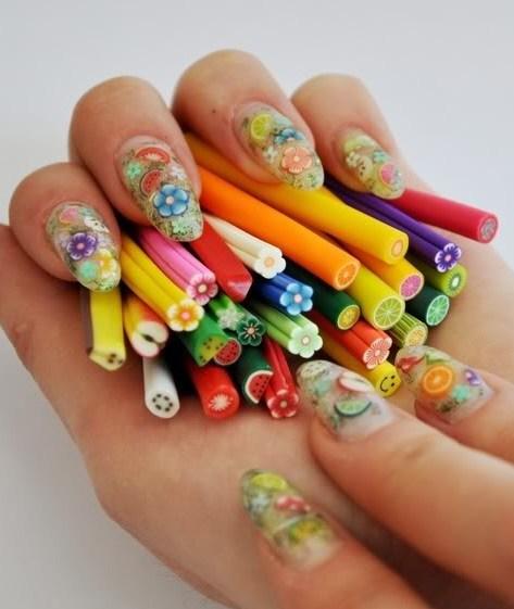 Фимо ногти дизайн